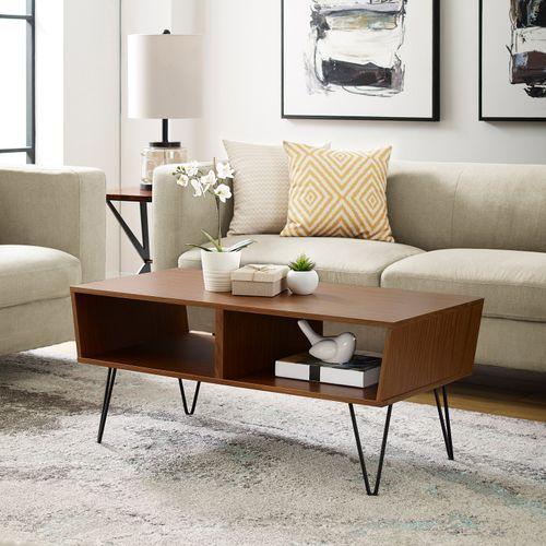 Mid Century Modern Acorn Hairpin Coffee Table Living Room Decor Modern Coffee Table Mid Century Coffee Table