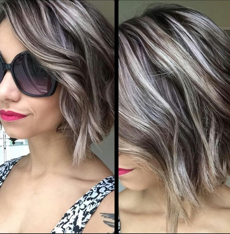 Pin By Arica Benson On Hair Gray Hair Highlights Covering