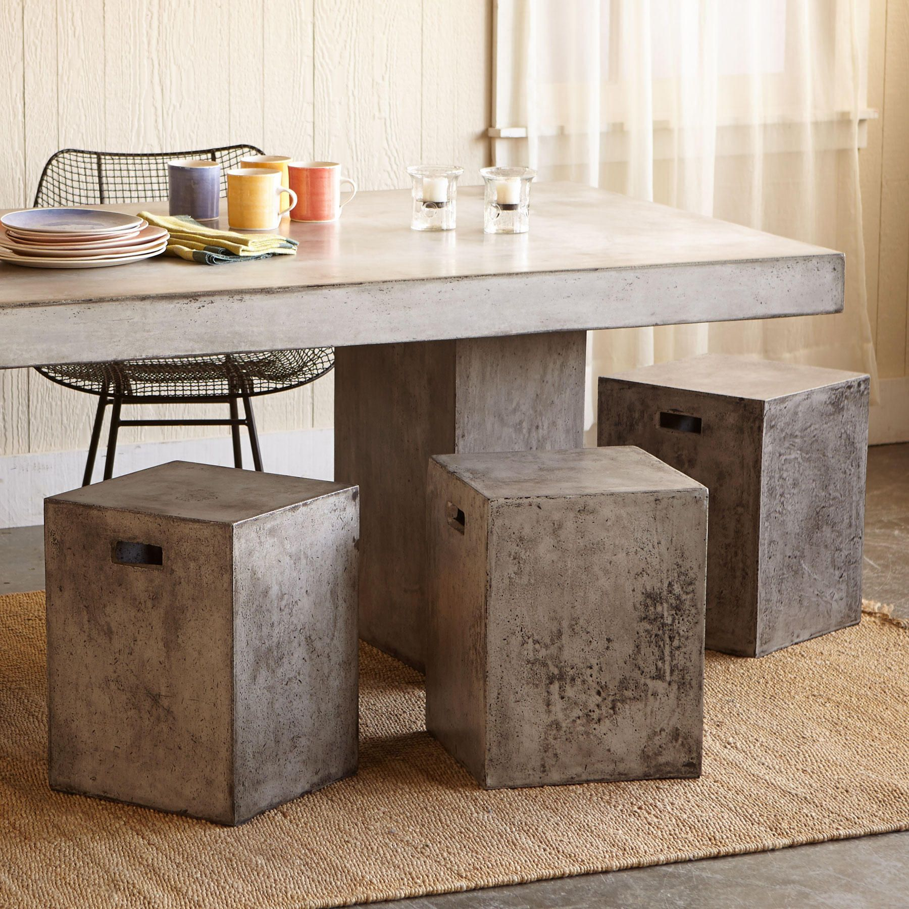gravitas cement dining stool ok so what else would you call a
