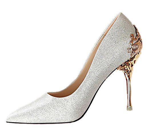 Schuhe silber elegant