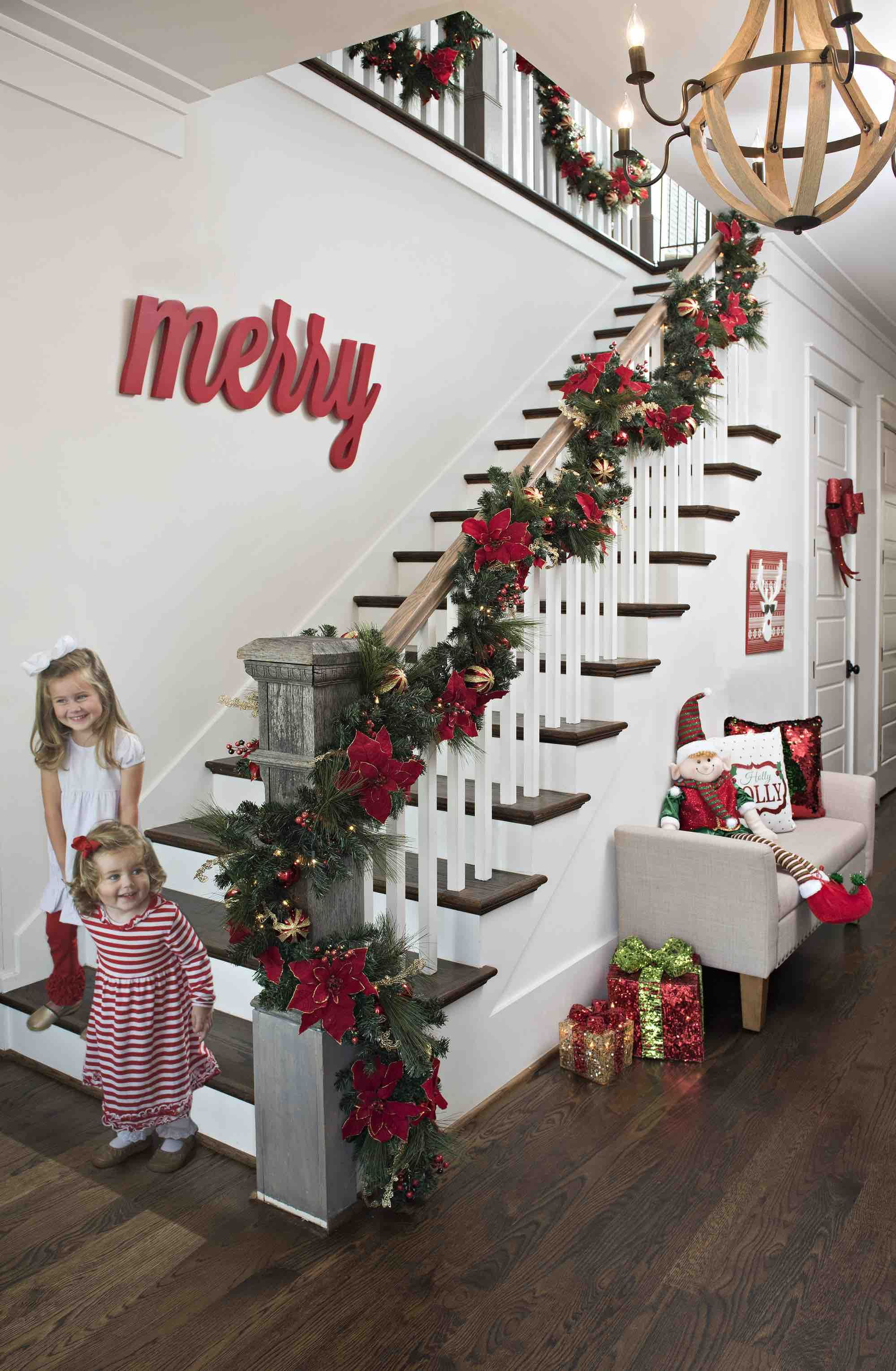 Deck The Halls With Gorgeous Holiday Decor From Kirkland S Merry And Bright Colle Merry Christmas Decoration Bright Christmas Decorations Christmas Staircase