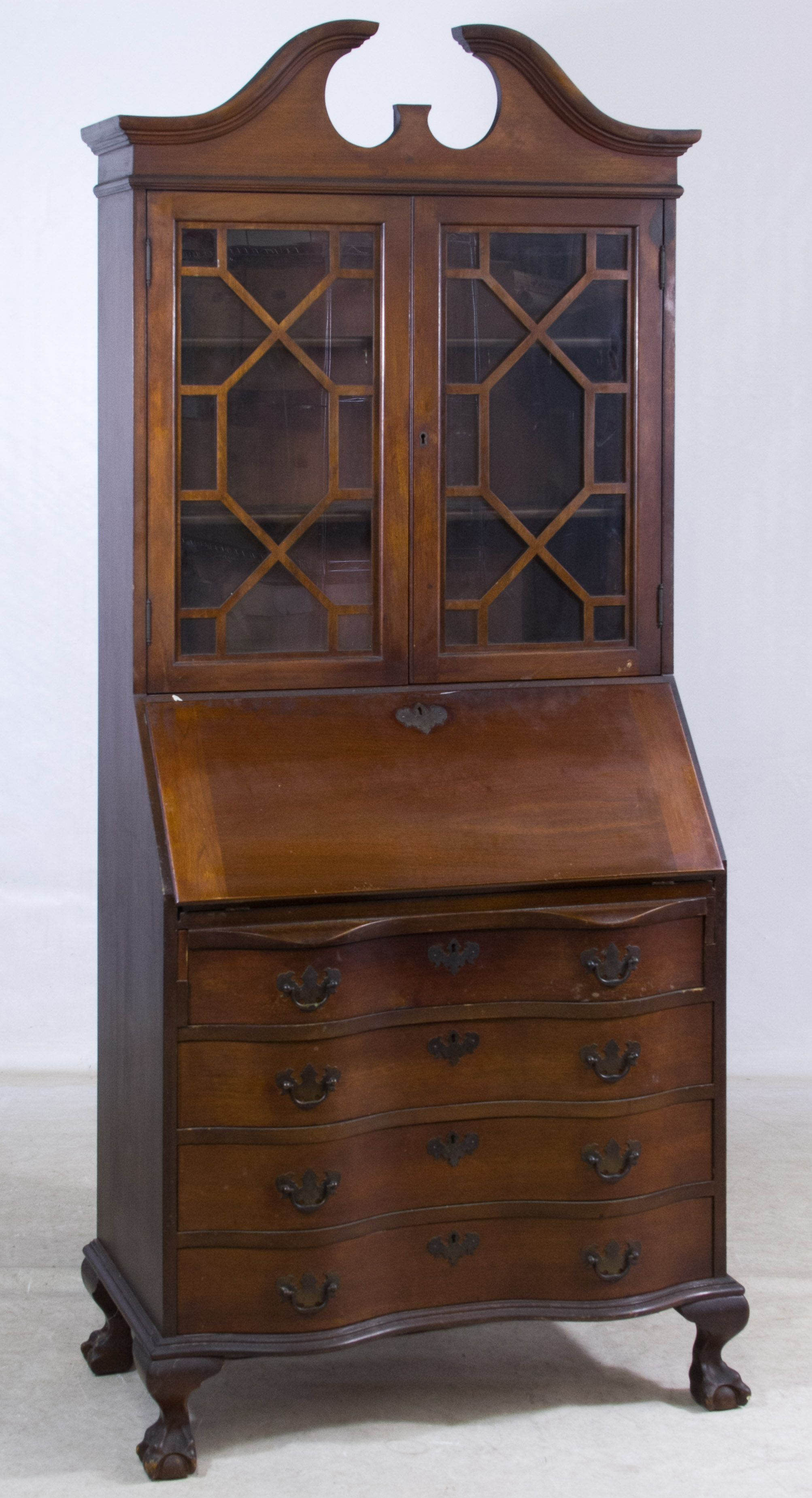 Lot 92 Mahogany Dresser Having four small center drawers flanked