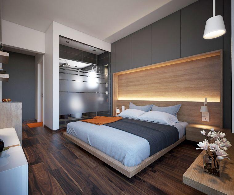 déco de luxe et tête de lit en bois | Chambre | Schlafzimmer ...