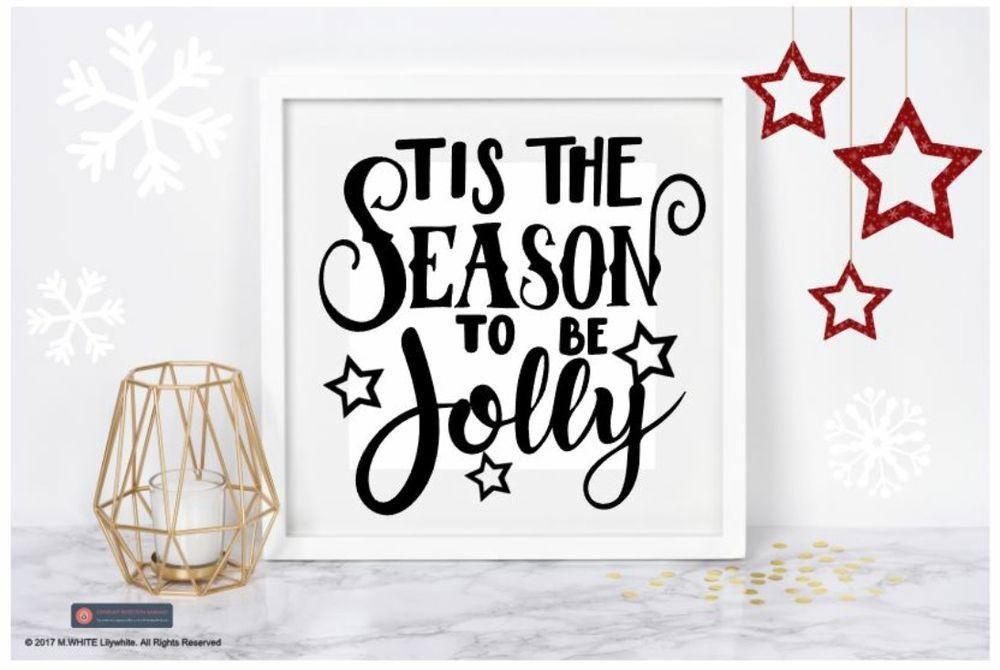 Tis the season to be jolly christmas vinyl sticker for diy box frame decoration unbranded
