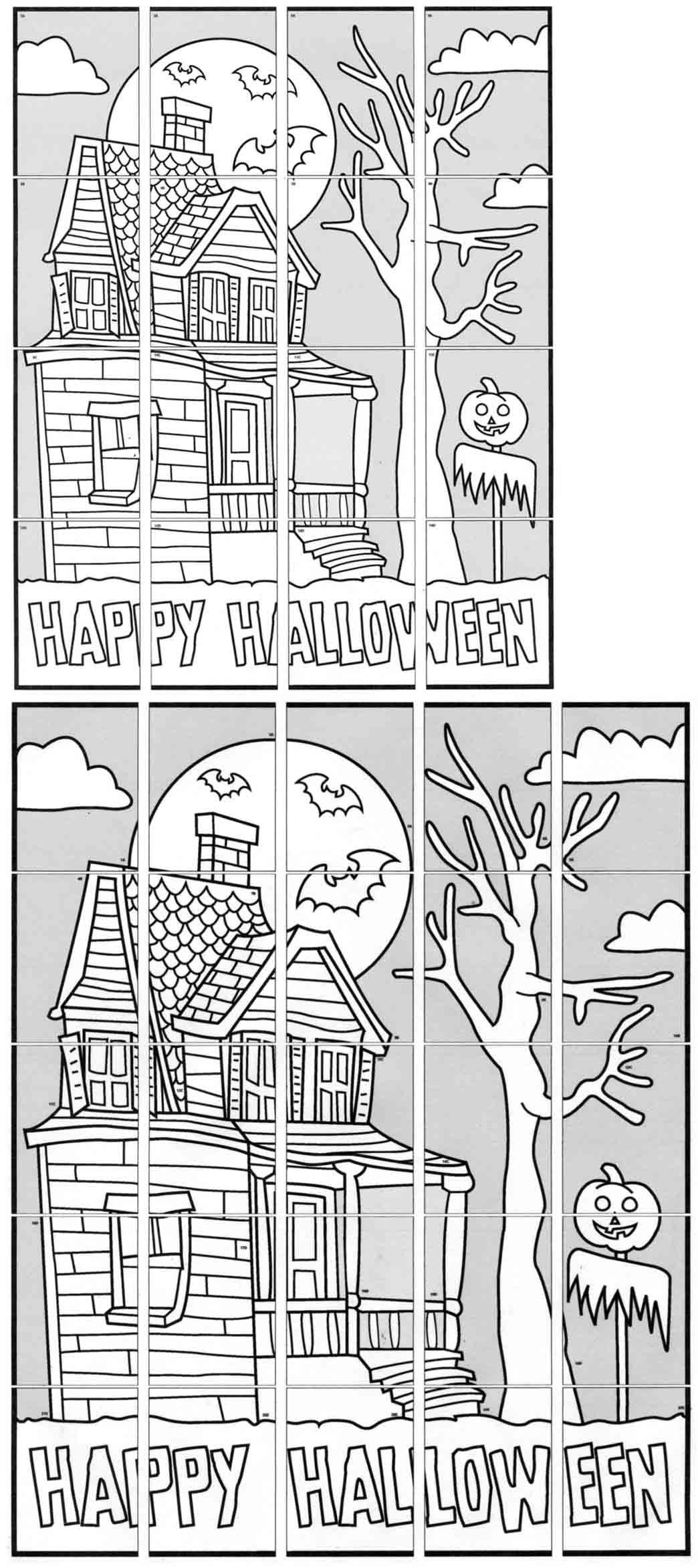 Easy Haunted House Mural Easy halloween decorations