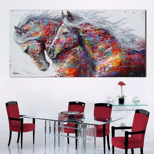 You will love this stunning spray painted contemporary large canvas wall art