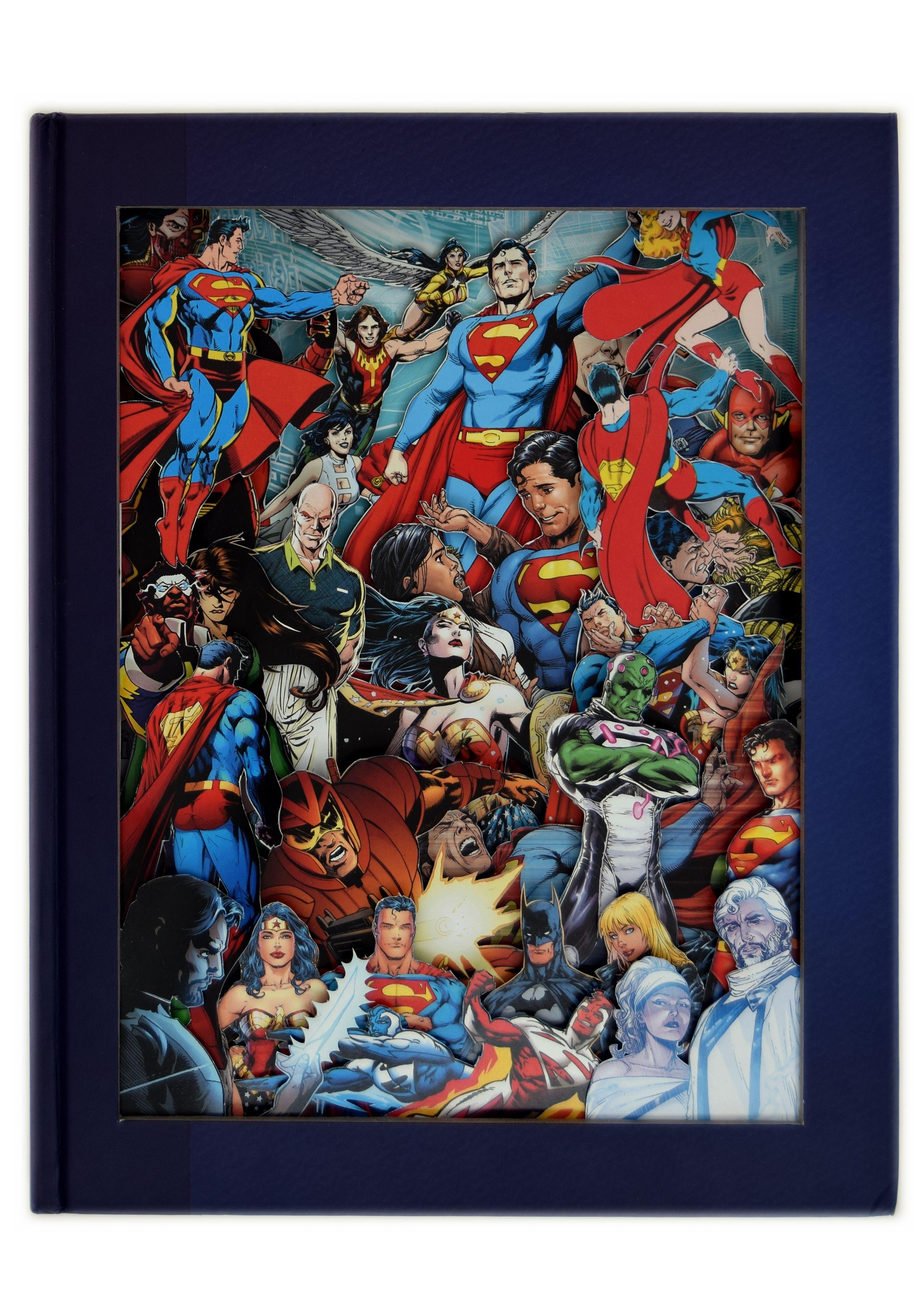 Superman Comic Book Sculpture