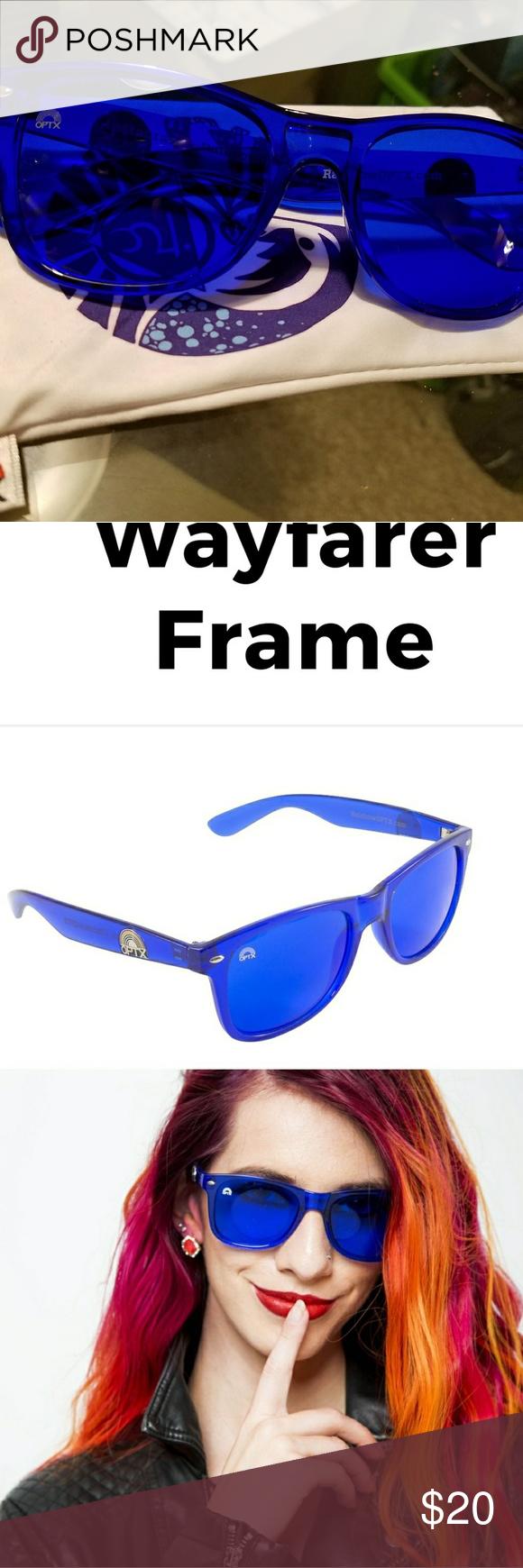 NWOT Blue wayfarers w matching lenses and frames | Lenses, Royal ...