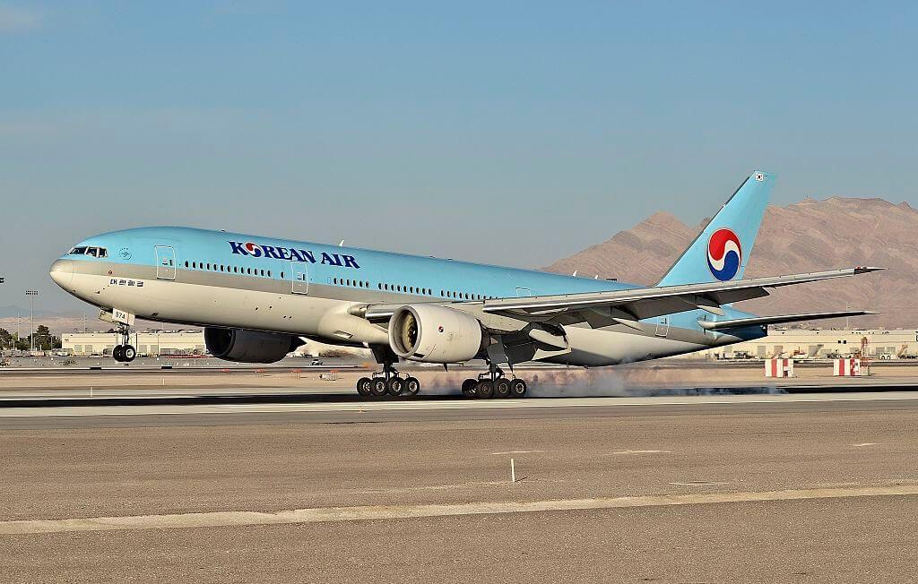 Boeing 777 2B5ER Korean Air HL7574 at McCarran