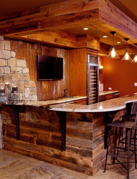 Estilo r stico para el bar la cueva pinterest estilo for Diseno bar rustico