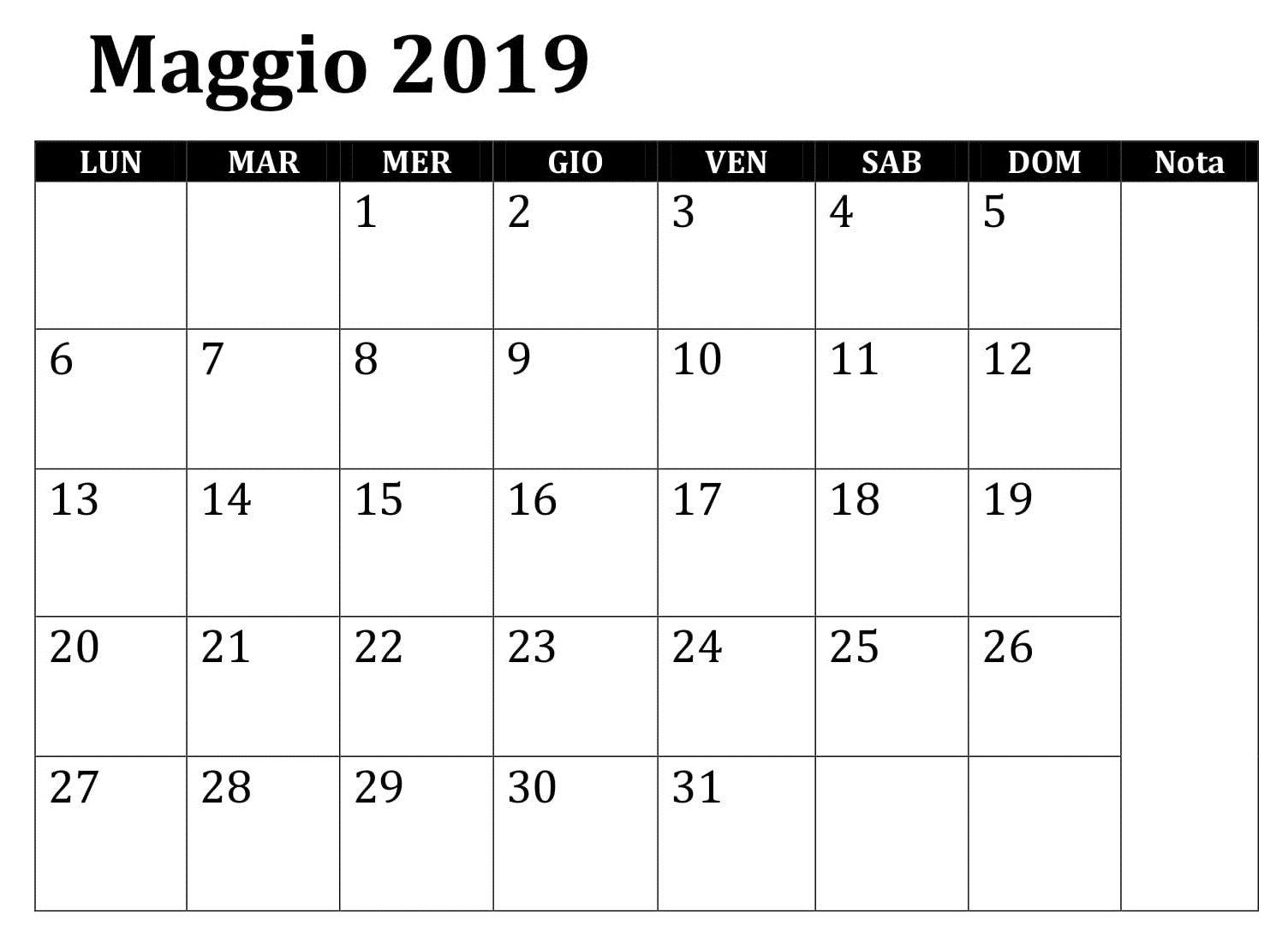 Calendario Mensile Da Stampare.Calendario Mensile 2020 Word