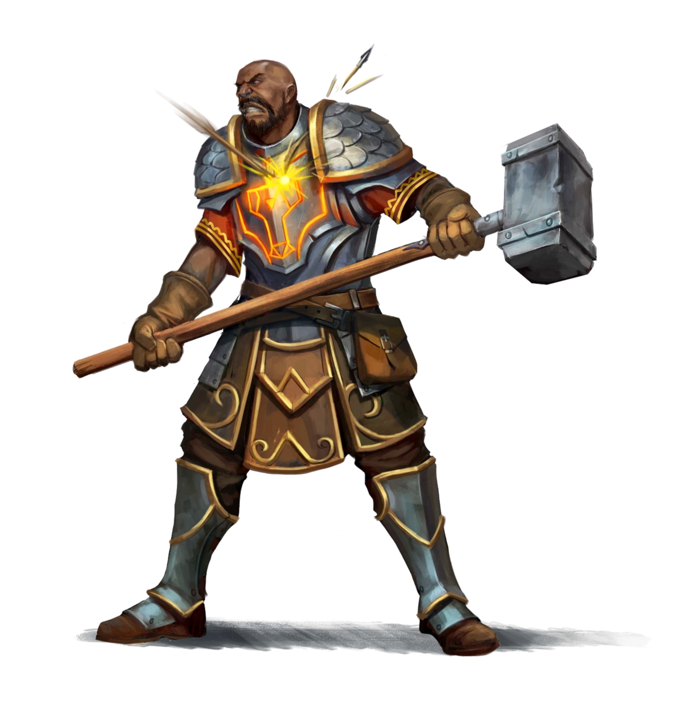 Male Human Cleric of Torag - Divine Block - Pathfinder 2E PFRPG DND D&D 3.5 5E 5th ed d20 ...