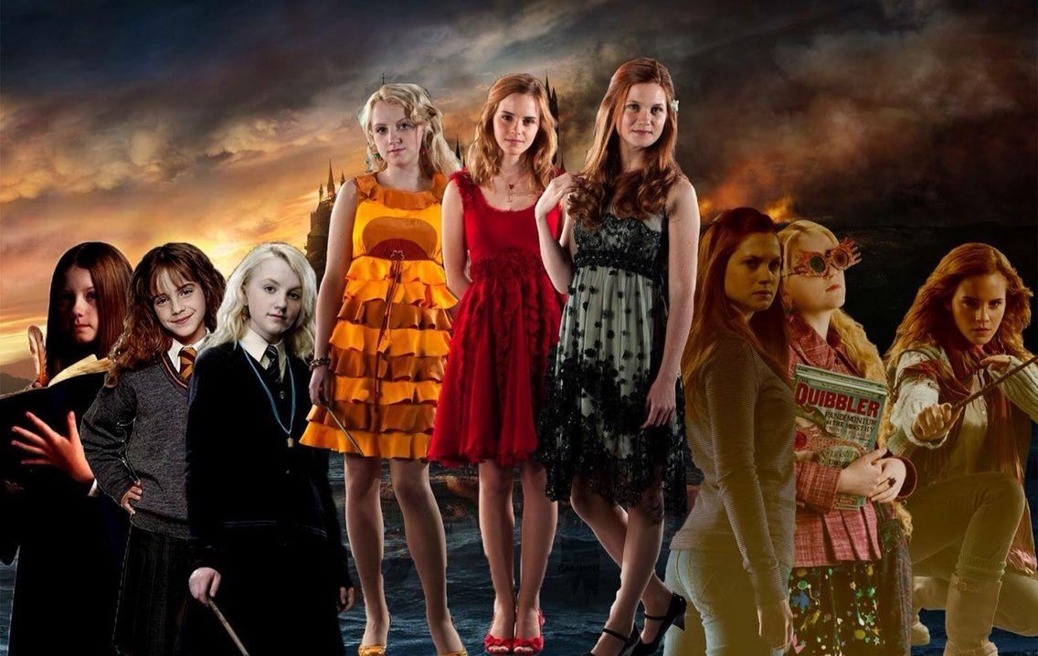 Luna Lovegood Hermione Granger And Ginny Weasley Ginny Weasley Harry Potter Girl Accio Harry Potter