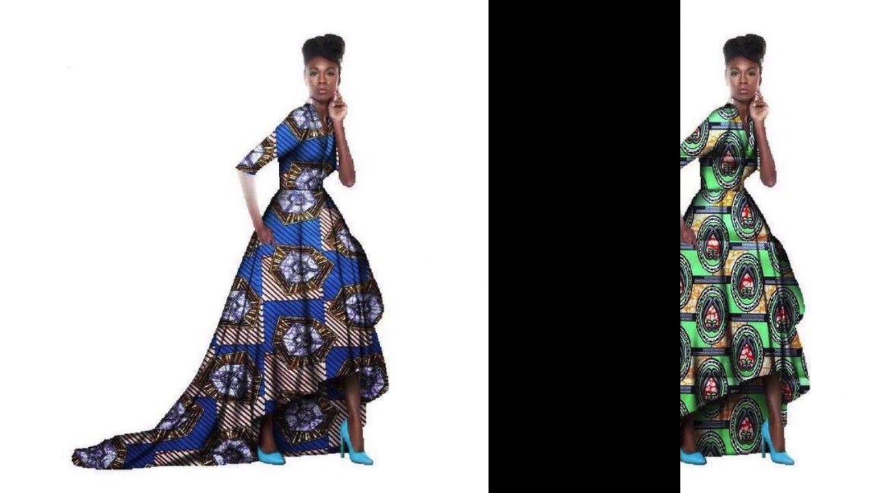 Asymmetric african style long dress flopal speciale pinterest
