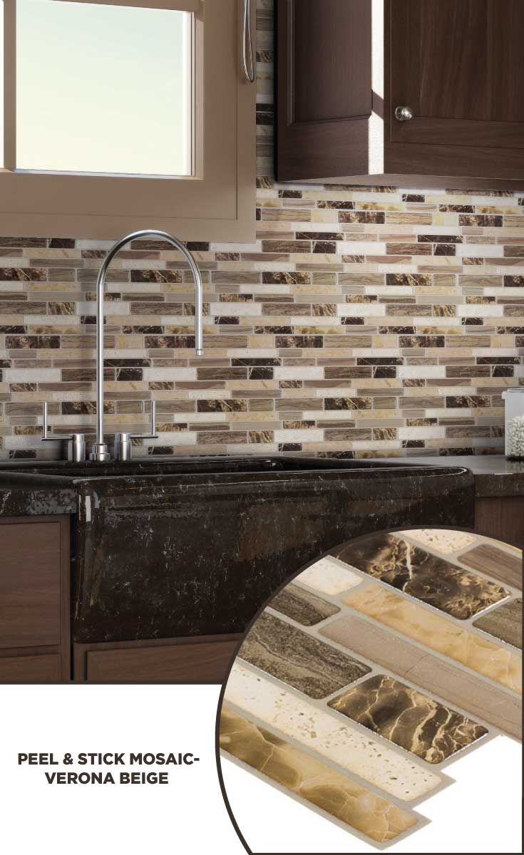 Tile Lowes Mosaics Glassmosaics Backsplash Ps101peel1010