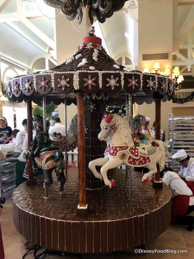 See Disney World S 2018 Beach Club Gingerbread Carousel The