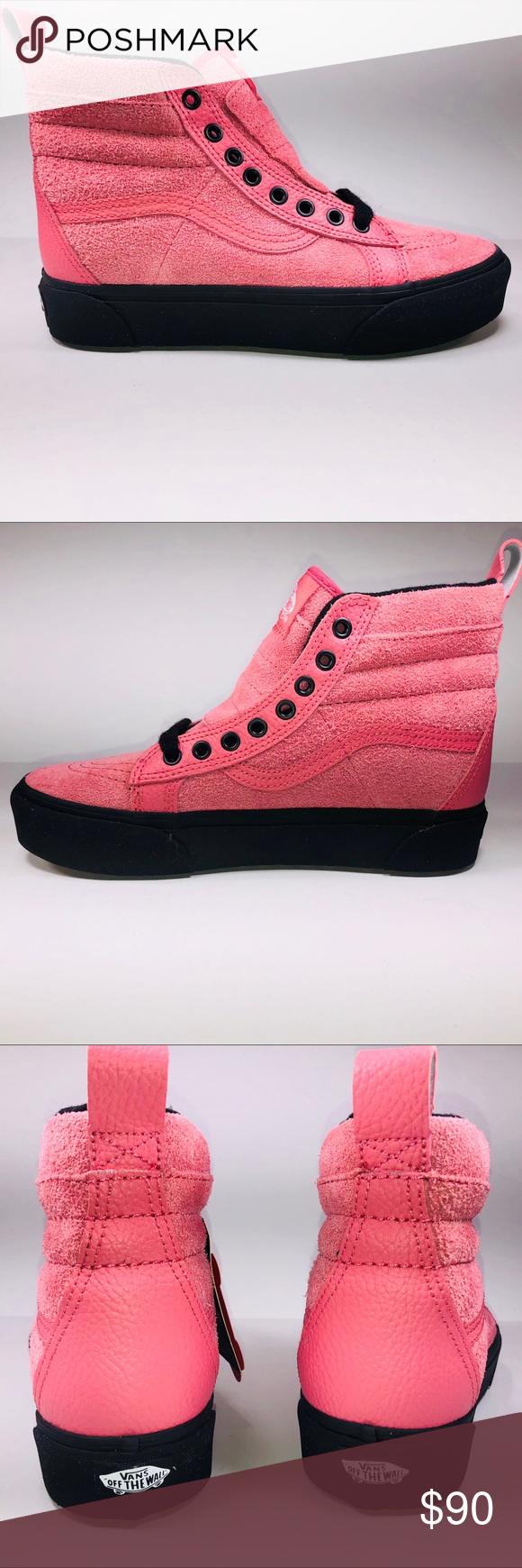 3a0306ddd41d VANS SK8 Hi Platform MTE Desert Rose Black Sneaker New With Damaged Box  Missing Lid See