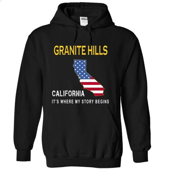 GRANITE HILLS - Its Where My Story Begins - #shirt outfit #long sweater. GET YOURS => https://www.sunfrog.com/States/GRANITE-HILLS--Its-Where-My-Story-Begins-ybehp-Black-14465097-Hoodie.html?68278