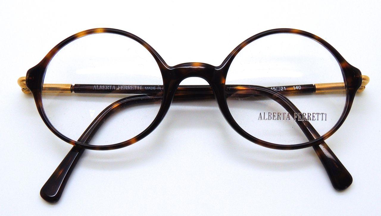 88de01613f Alberta Ferretti Classic round design in dark tortoiseshell acrylic Visit -  http   theoldglassesshop