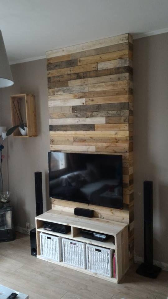 Wall from Pallet Wood / Mur En Bois De Palettes • Pallet ...