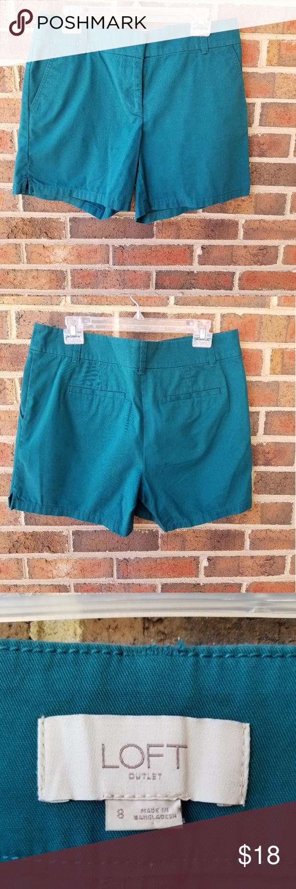 Sold Loft Size 8 Turquoise Shorts Turquoise Shorts Shorts Blue Shorts