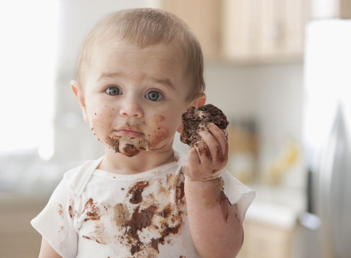 Baby Eating Chocolate Bar