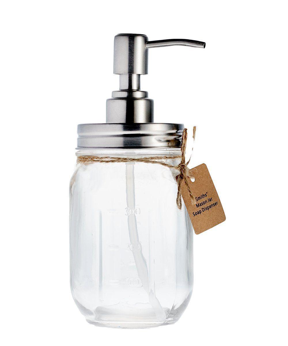 Smith\'s Mason Jar Soap Dispenser: Amazon.co.uk: Kitchen & Home ...