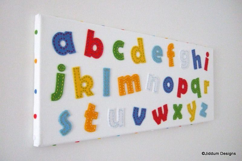 Colourful Alphabet Wall Decoration £14.95
