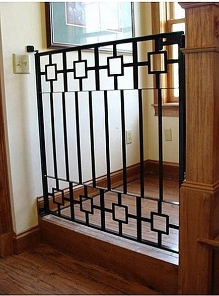 Awesome Custom Baby Gates, Custom Pet Gates, Custom Wrought Iron Stairway Gates,  Custom Wrought Iron Pet Gates, Custom Wrought Iron Baby Gates   Itu0027s About  Time