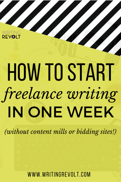 How To Start A Resume Writing Business How To Start Freelance Writing In One Week Without Content Mills .
