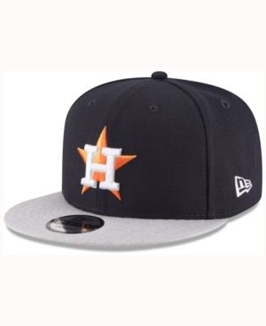 f40c938b5ae New Era Houston Astros Heather Vize 9FIFTY Snapback Cap - Blue Adjustable
