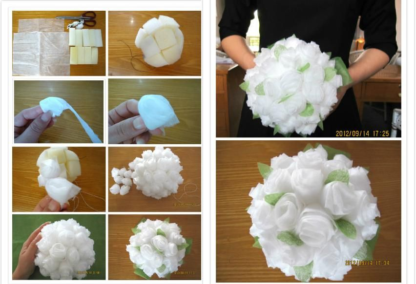 How To Make Baby Tissue Paper Flower Bouquet Step By Step Diy
