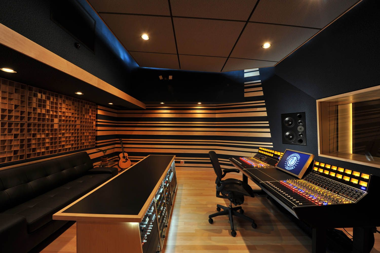 Home Music Studio Design Ideas musically inspired wall decals Diy Sound Proof Panels Step By Step Recording Studio Designhome