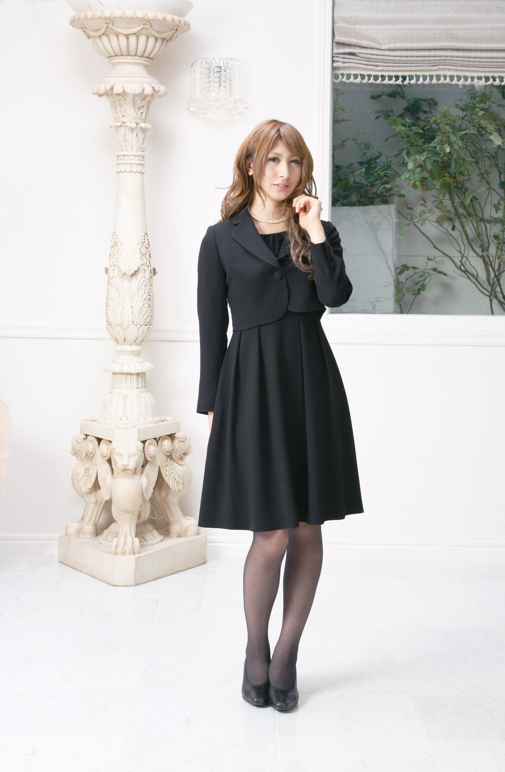 93f9d2d881e6b Amazon  (マーガレット)marguerite m424 ブラックフォーマル レディース アンサンブル 礼服