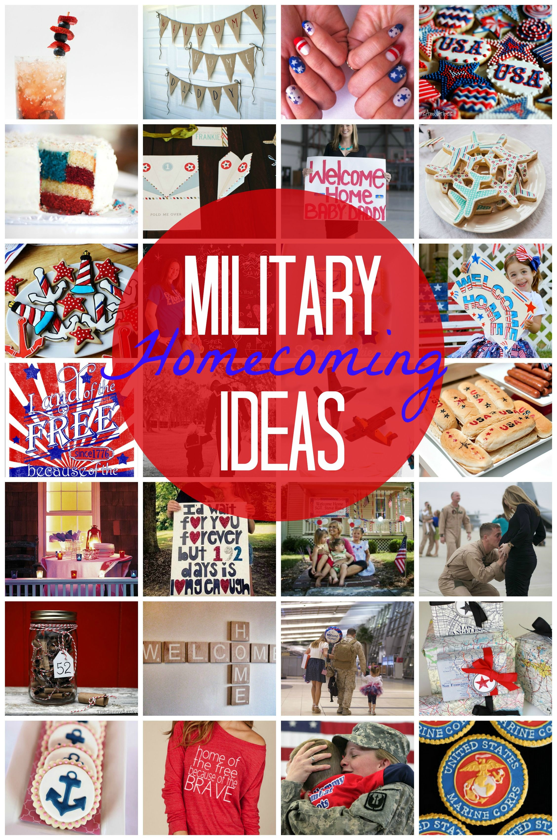 Military welcome home crafts for Welcome home soldier decorations