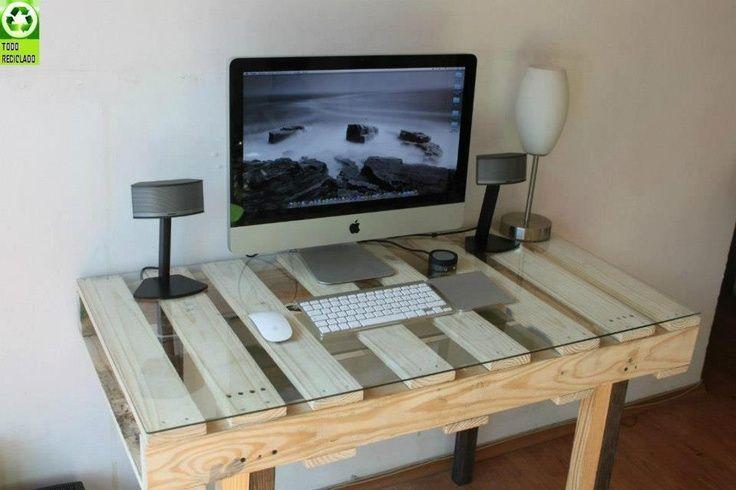 Como hacer escritorios con palets de madera buscar con - Modelos de escritorios de madera ...