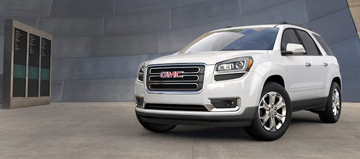 2015 Gmc Acadia Crossover Suv In Summit White Suv Crossover