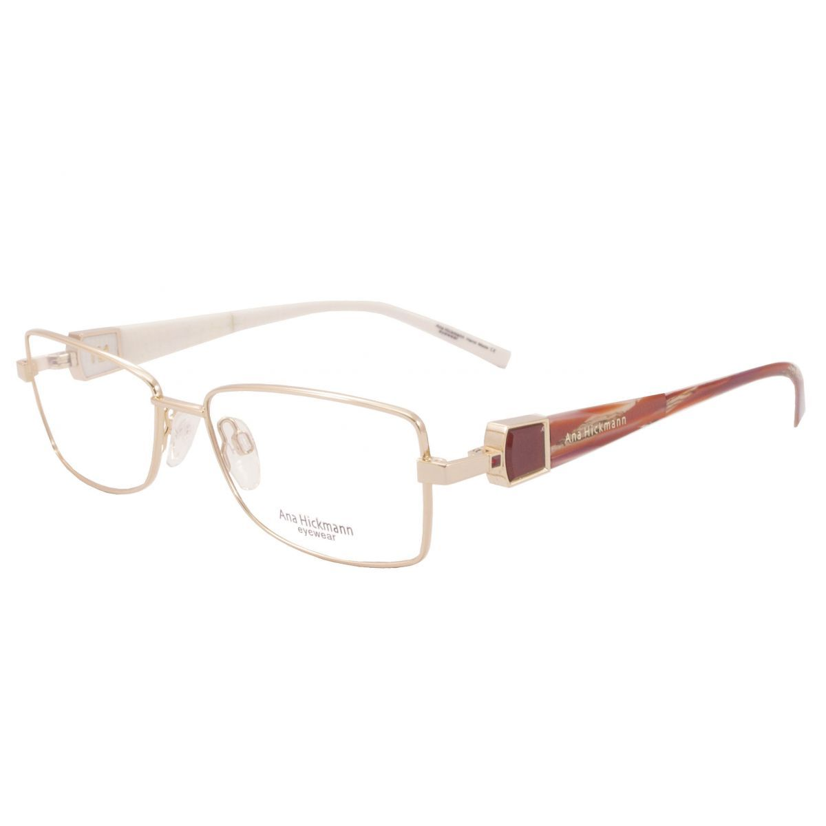 Oculos De Grau Ana Hickmann Duo Fashion Ah1248 04a Tam 54