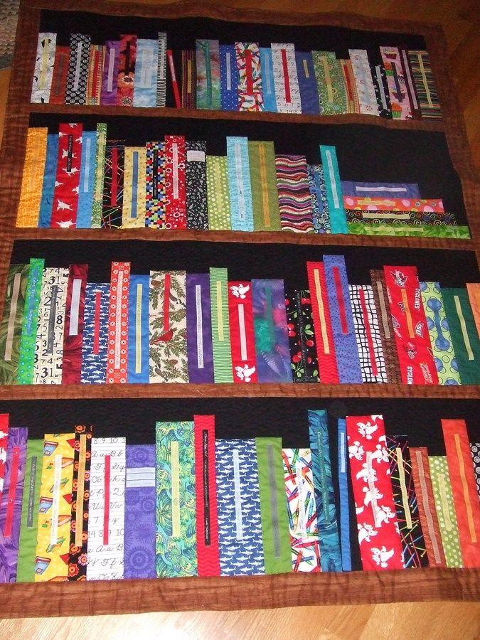 Bookshelf Quilt for a retiring school librarian and inspired by a ... : quilt bookshelf - Adamdwight.com