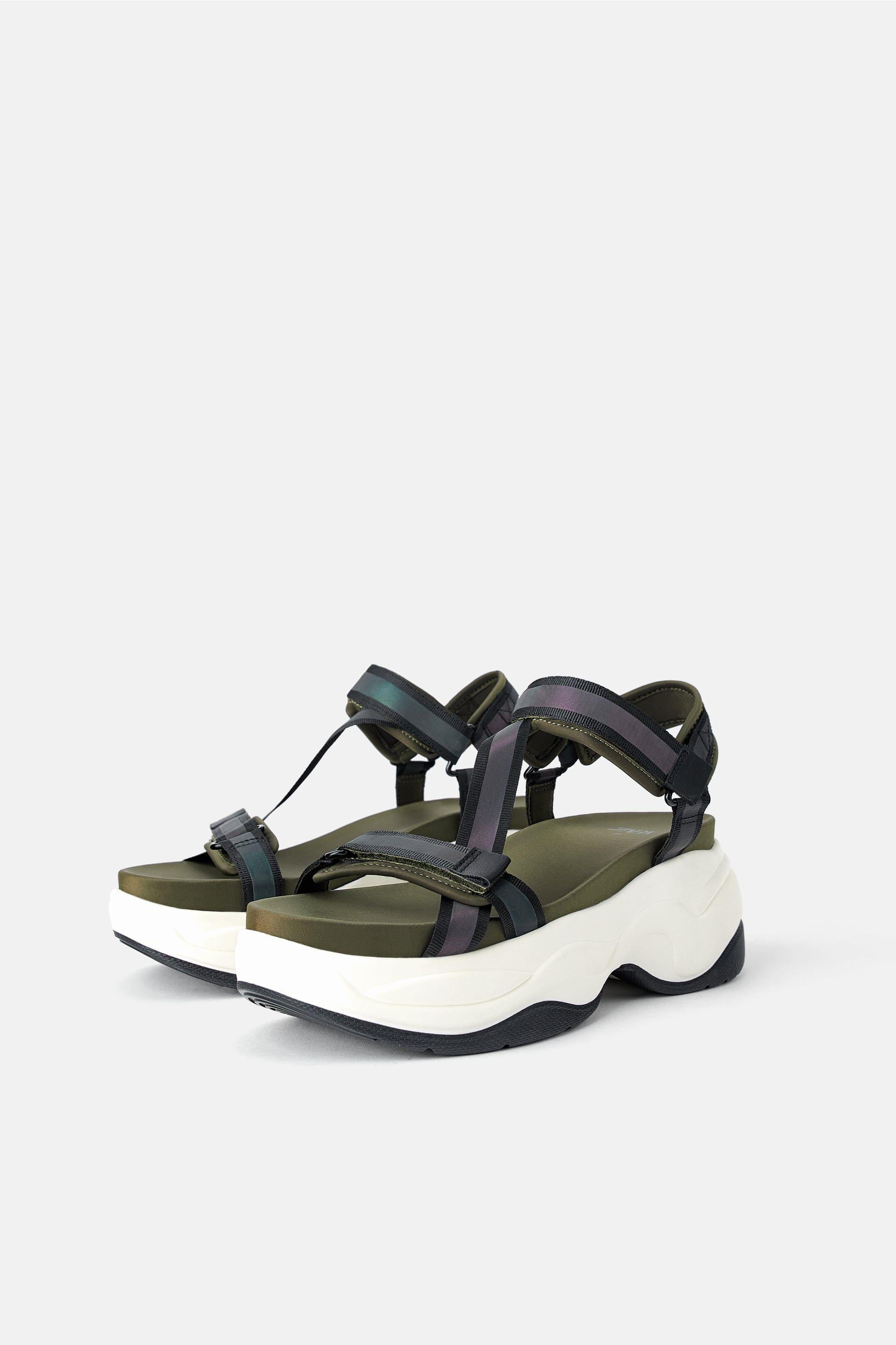 Sandales plates sport à semelles épaisses   Sandales plates