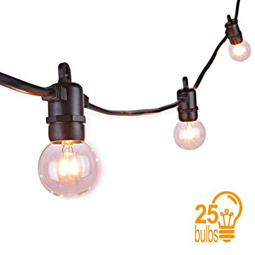 6ef4a0518033ae Sunix Guirlande Guinguette Raccordable avec 25 G40 ampoule Blanc Chaud  étanche 762m Décoration intérieur et extérieur pour Patio Café Jardin  Décoration de ...