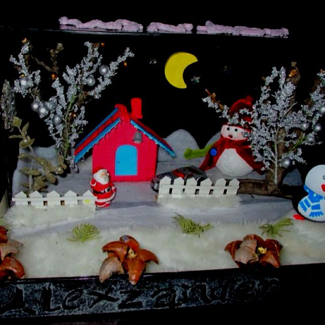 Christmas Shoebox Diorama.Pin On Art Attack