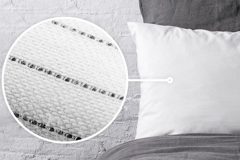 This New Pillowcase Has Silver Coated Fibers That Make It Anti Bacterial Pillows Pillow Cases Solutions