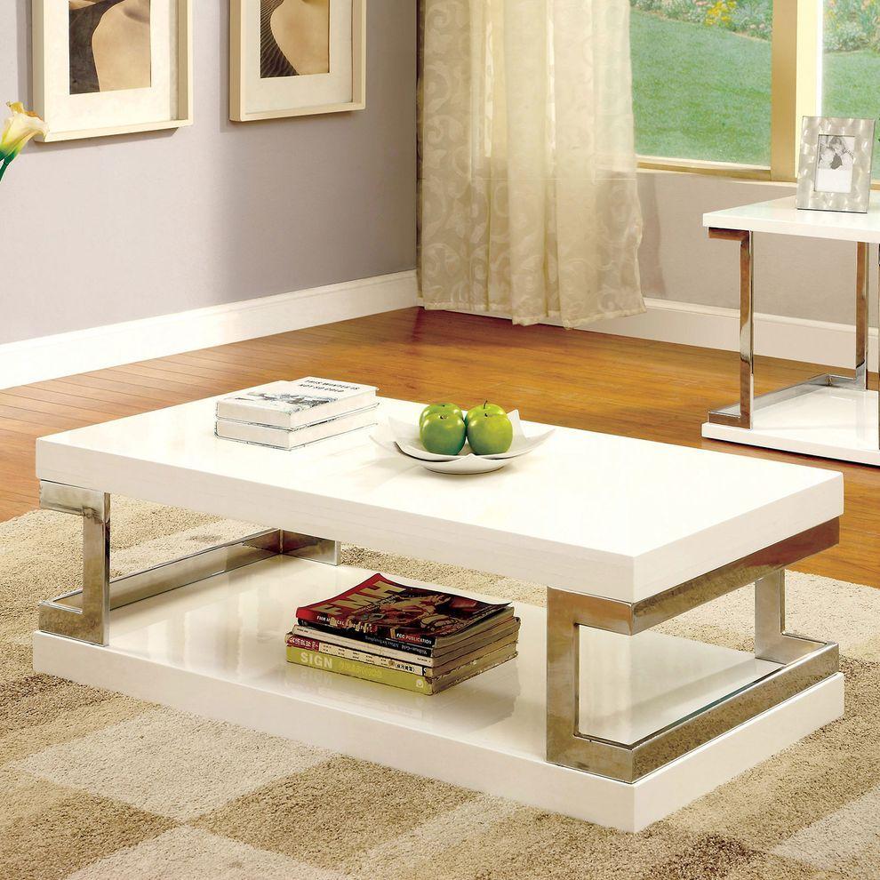 Meda Coffee Table Cm4486 Furniture Of America Coffee Tables Coffee Table Coffee Table With Storage Contemporary Coffee Table [ 990 x 990 Pixel ]