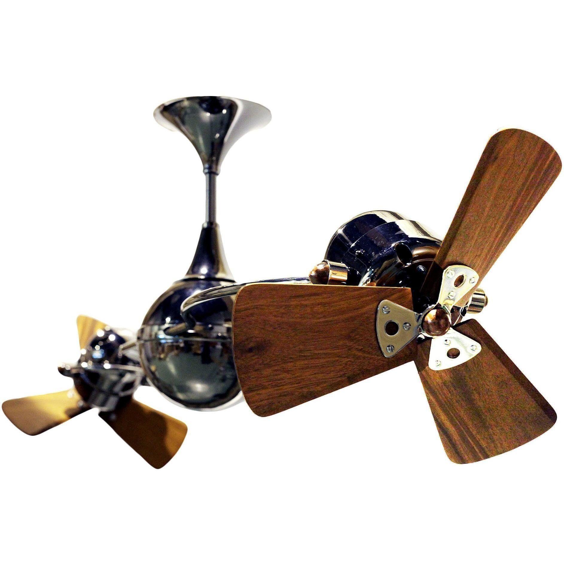 Italo Ventania Rotational Dual Ceiling Fan Wood Blades