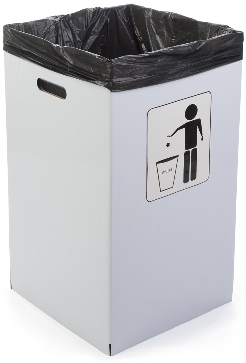 Cardboard Trash Can Set Of 6 Waste Receptacle Trash Can Recycling Station