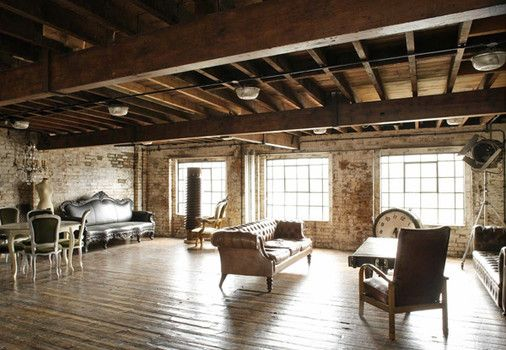 Industrial style interior designs are common for lofts and old ...