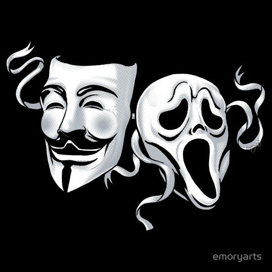 'Tragedy & Anonymity' T-Shirt by emoryarts | Comedy ...