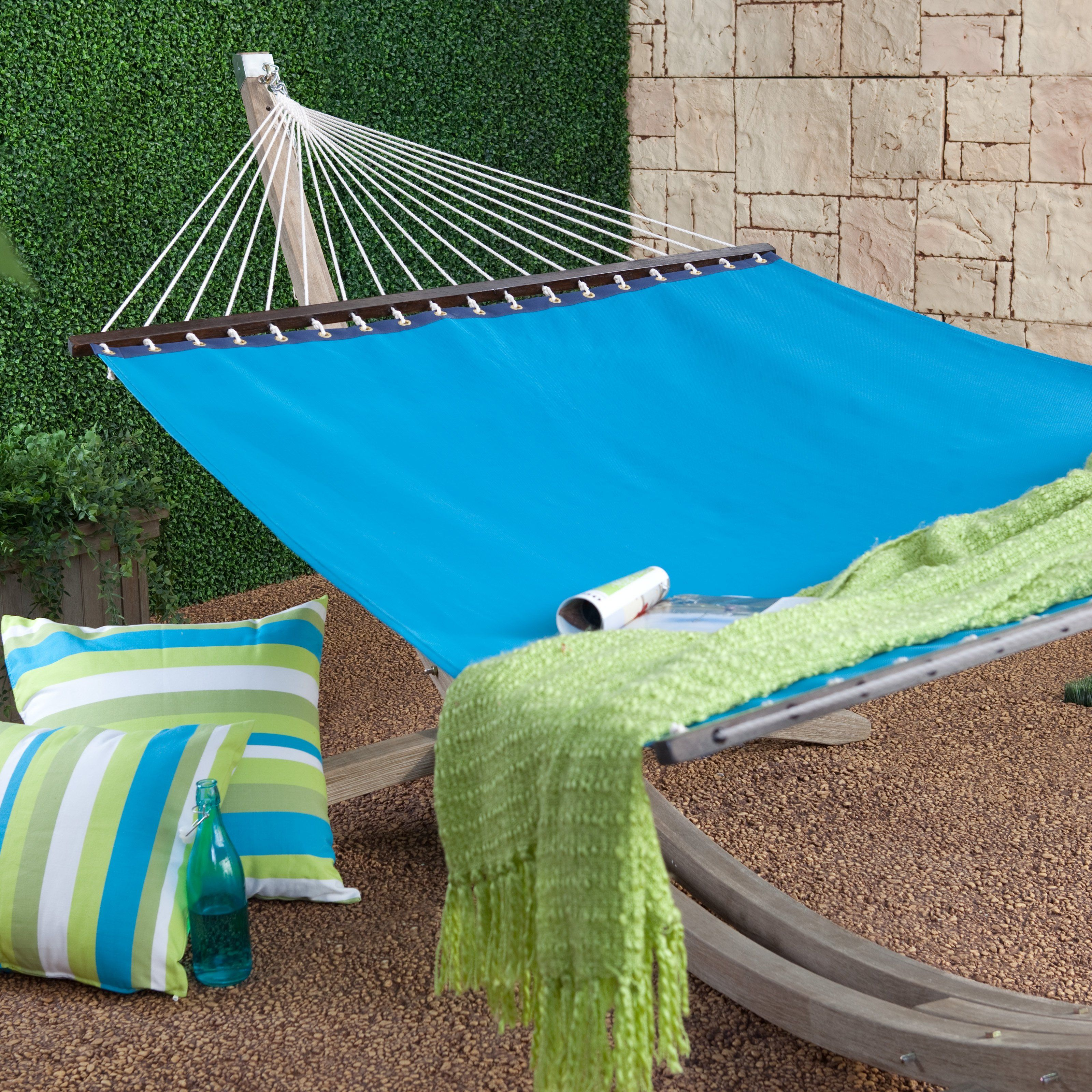 Have to have it island bay quick dry poolside bayberry blue hammock