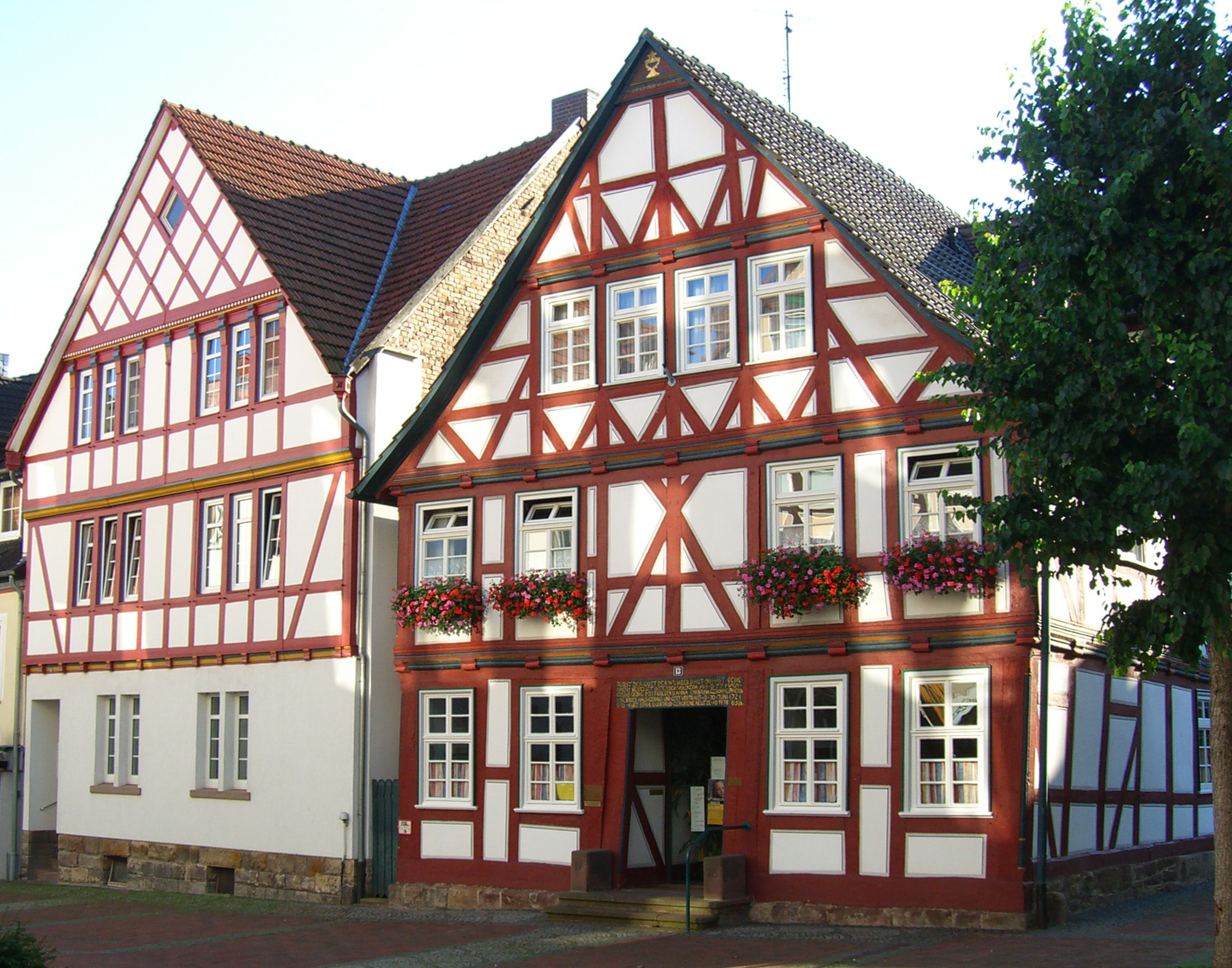 Medieval German Architecture The Walls Are Decorated With Wood